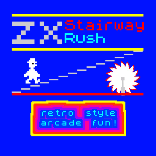 zx stairway rush, spectrum 48K like games. Free by wildbeep.